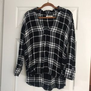 Rip curl black and white checkered flannel